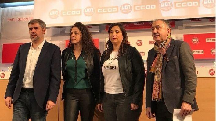 UGT y CCOO: paros de 'huelga feminista' el Día de la Mujer