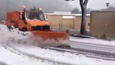 Reabren la carretera de Ses Barques y la Artà – Capdepera en pleno temporal de lluvia y nieve