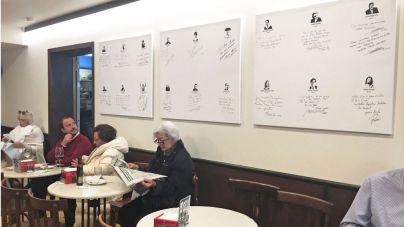 El Bar Bosch lleva a sus paredes las dedicatorias de sus 80 años de historia