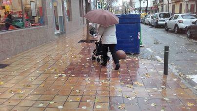 Lluvia en Mallorca con episodios tormentosos y de granizo
