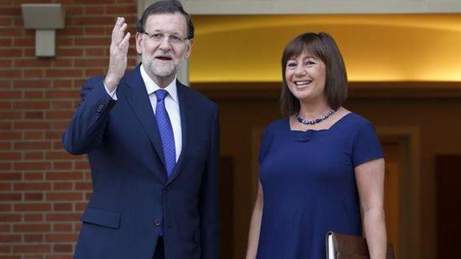 Armengol en una visita a La Moncloa con Mariano Rajoy