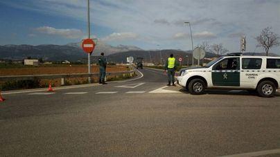 Dos detenidos por tráfico de drogas tras huir de un control de la Guardia Civil en Santa Margalida