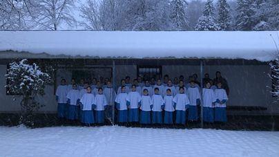 Los Blauets de Lluc cantan en el campo de concentración de Dachau