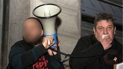 Tomeu Martí (derecha), durante un acto independentista