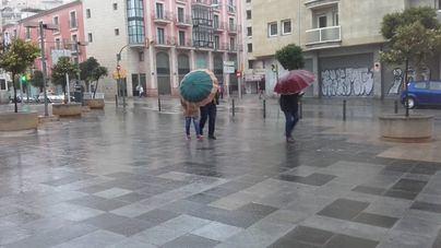 Lluvia con episodios tormentosos y de granizo en Mallorca