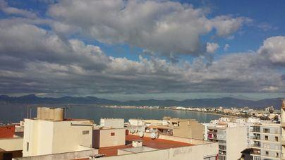 Cielos poco nubosos con temperaturas en descenso en Mallorca