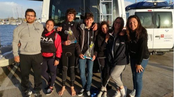 Tres regatistas suben al pódium en el Campeonato de Balears Laser 4.7 y 29er