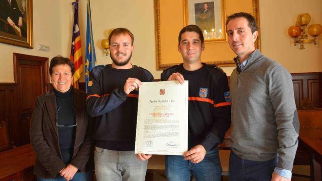 Protección Civil de Santanyí recibe el Premio Ramon Llull