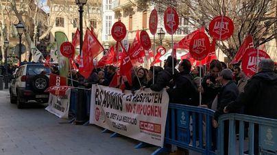 Imagen de la manifestación de este martes ante Delegación de Gobierno