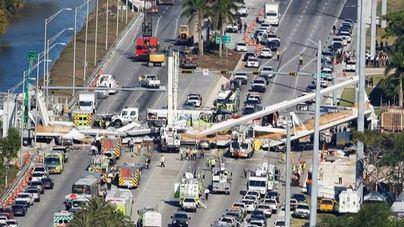Al menos cuatro personas mueren tras derrumbarse un puente en Florida