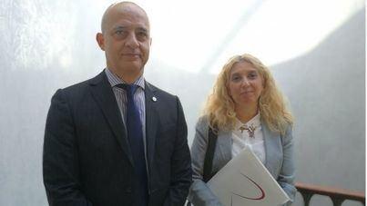 Manuel Molina y Helena Cabañero, de la comisión de Balears