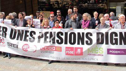 """Balears se suma este sábado a las manifestaciones de jubilados por unas """"pensiones dignas"""""""