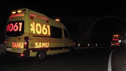 Un motorista en estado muy grave tras ser arrollado por un coche entre Manacor y Porto Cristo