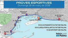 Restricciones de tráfico en Palma por las 'cursas' deportivas