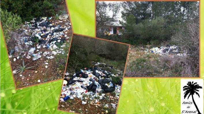 Vecinos de s'Arenal denuncian vertidos de basura frente al instituto