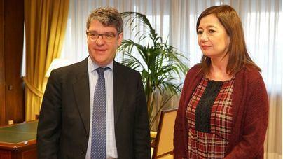 Armengol viaja a Madrid para explicar al ministro Nadal la Ley de Cambio Climático de Balears