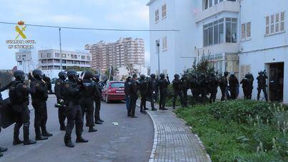 La Guardia Civil desmantela 17 puntos de venta de droga en Palma en su último gran golpe