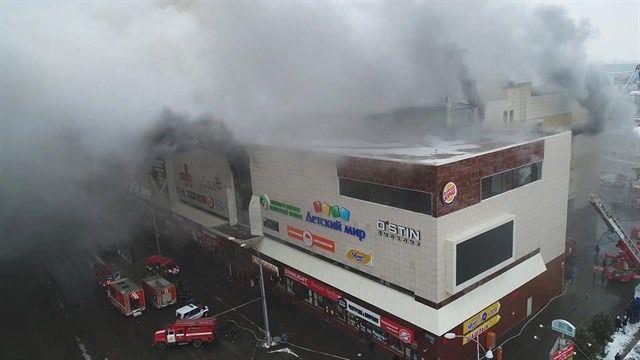 53 muertos en el incendio de un centro comercial en Siberia