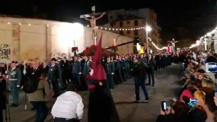 Guardias civiles de Palma volverán a sacar al Cristo de la Cinco Llagas