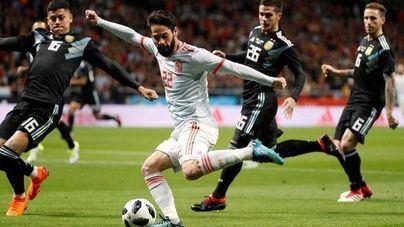 Marco Asensio se luce en la victoria por goleada de España a Argentina