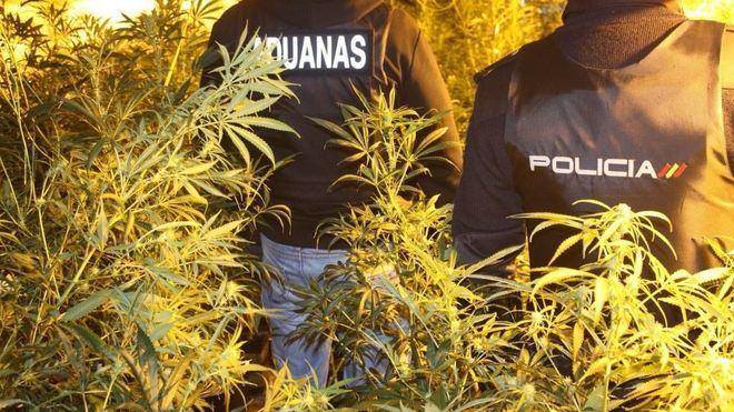 Imagen de una redada de la Policía Nacional en El Hoyo