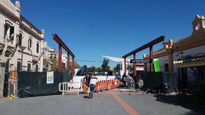 Las obras de la cubierta del acceso a la Estación Intermodal finalizarán a principios de junio