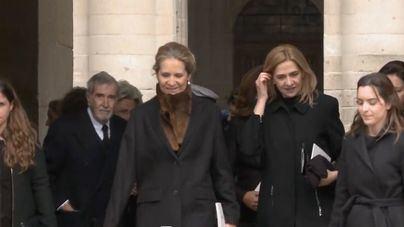 La infanta Cristina reaparece con la Familia Real al completo