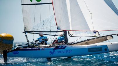 Iker Martínez y Olga Maslivets, terceros en Nacra 17