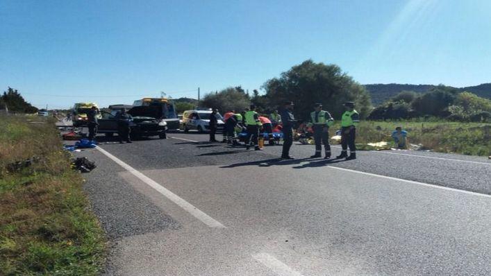 Imputan un delito de homicidio imprudente a la conductora que arrolló a un pelotón ciclista