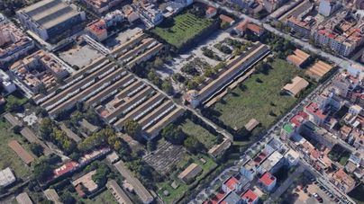 Fotografía aérea del cuartel Son Busquets en Palma donde se construirán 800 VPOs