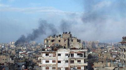 Un ataque con misiles deja 14 muertos en un aeródromo militar en Siria