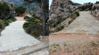 Se han pavimentado con cemento buena parte de los caminos