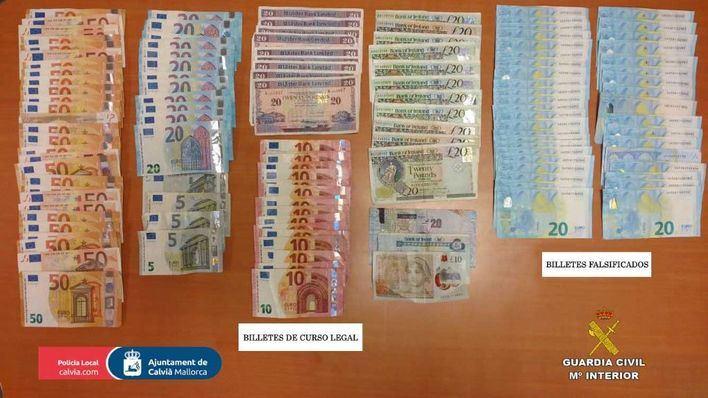 Detienen a una banda dedicada a la introducción de billetes falsos en Calvià