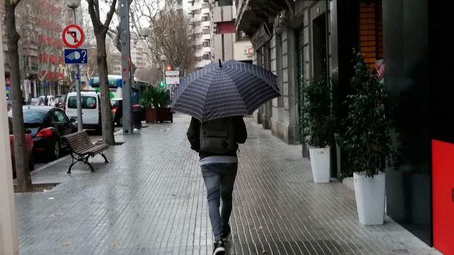 Cielos cubiertos con lluvias en Mallorca