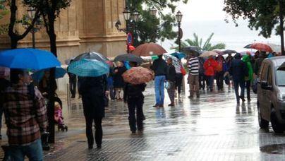 Lluvias generalizadas que irán remitiendo el domingo tarde