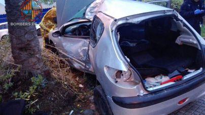 Un joven de 22 años herido grave tras empotrar su coche contra una palmera en el Paseo Marítimo