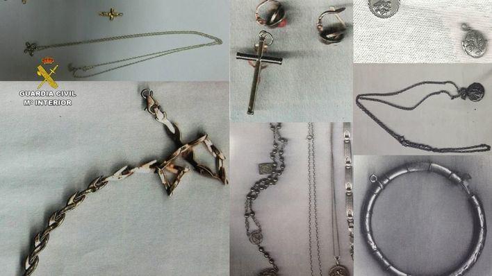 La Guardia Civil recupera joyas y bienes robados en casas de Muro y alrededores
