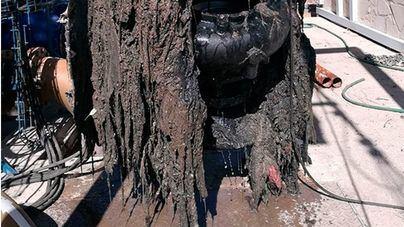 La depuradora de Palma, colapsada por las toallitas que se tiran al inodoro