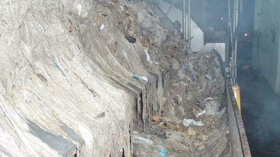 Imagen reciente de estos residuos en la depuradora de Palma