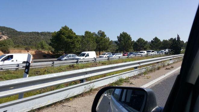 Retenciones en la autopista de Ponent por trabajos de mantenimiento