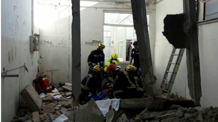 Herido un obrero al derrumbarse el techo durante las obras de demolición de una casa en Caimari