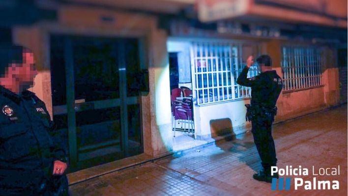 Imagen del lugar del robo difundida por la Policía Local