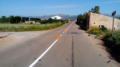Sa Pobla mejora las marcas viarias de la carretera a Can Picafort