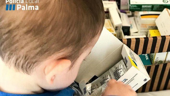 Un niño de tres años sufre una intoxicación leve por ingesta de fármacos