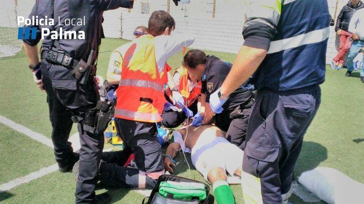 Un jugador de fútbol aficionado, trasladado a Son Espases tras sufrir un paro cardíaco en pleno partido