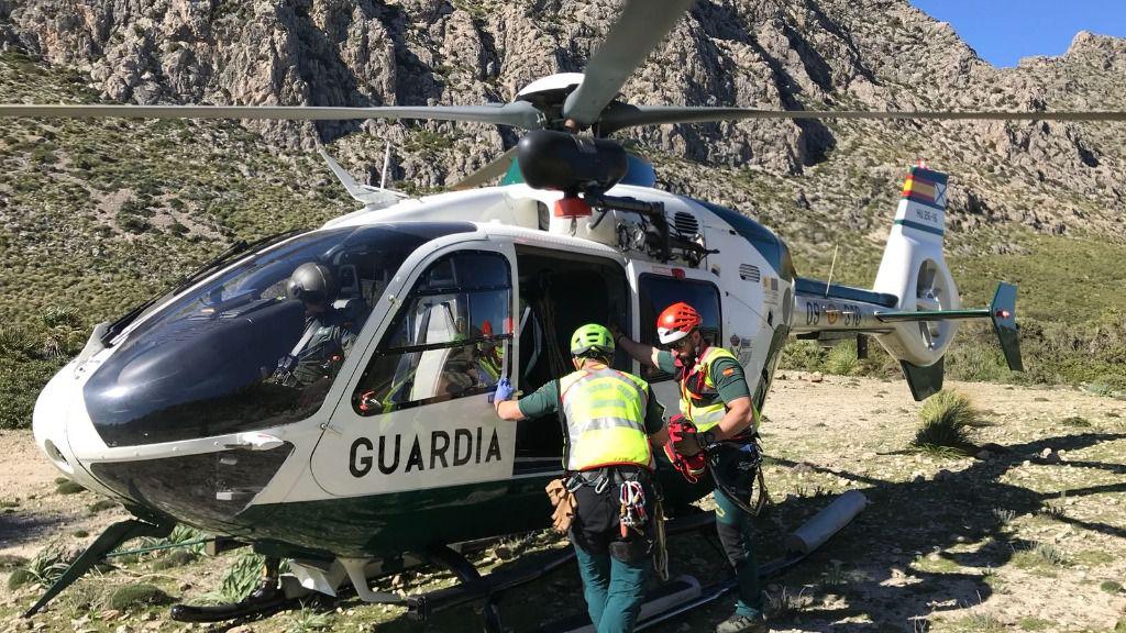 Rescatan en helicóptero a un barranquista en el torret de Sa Fosca