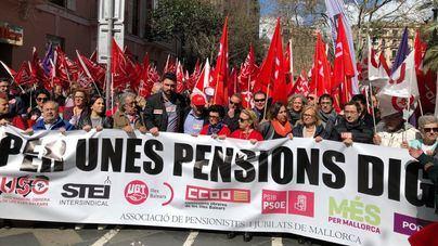 Organizan otra manifestación por las pensiones para este sábado en Plaza España de Palma