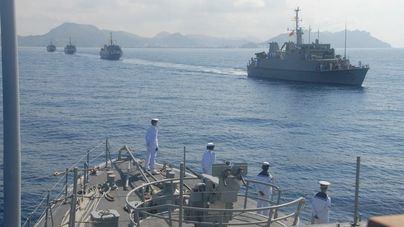 Los buques del ejercicio de guerra de minas 'Spanish Minex' atracan este sábado en Porto Pi