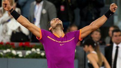 Rafa Nadal aventaja en 100 puntos a Federer antes del Masters de Madrid