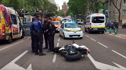 Muere uno de los escoltas de Rajoy en un accidente de moto en Madrid